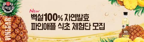 백설 100% 자연발효 파인애플 식초 체험단 모집