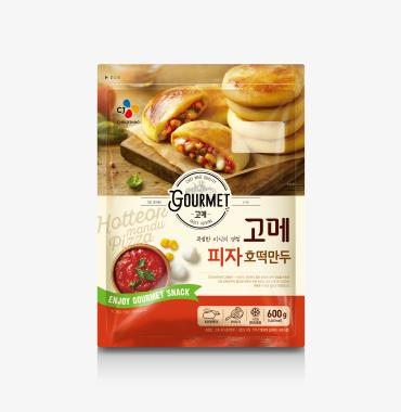 고메 피자 호떡만두 제품 이미지