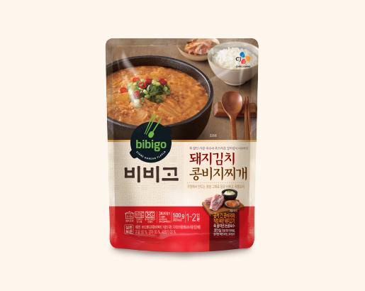 비비고 돼지김치 콩비지찌개 제품 이미지