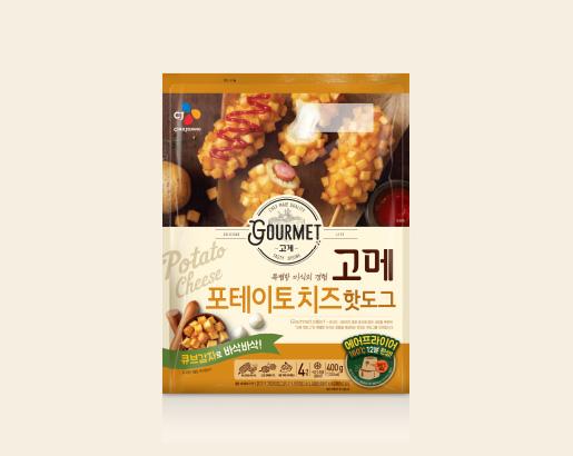 고메 포테이토 치즈 핫도그 제품 이미지