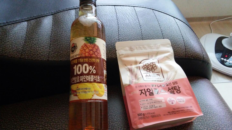 100% 자연발효 파인애플 식초