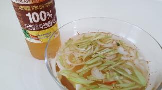 시원한 오이냉국 by백설 100% 자연발효 파인애플식초
