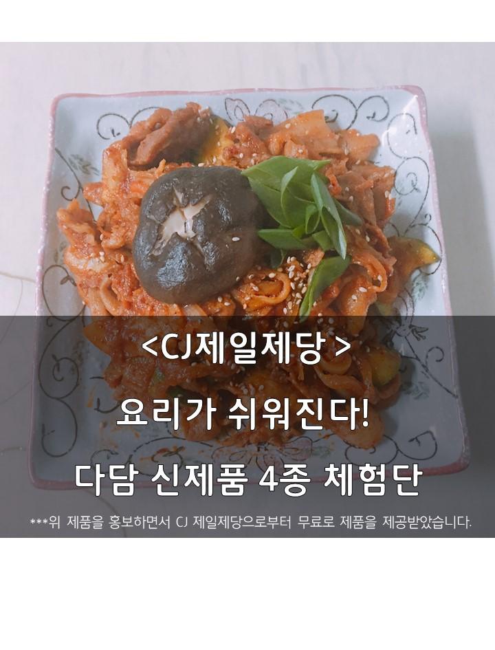 다담 신제품 4종 체험단 리뷰, 매콤돼지불고기양념편