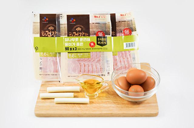 베이컨 치즈 계란말이 만들기 2단계 사진
