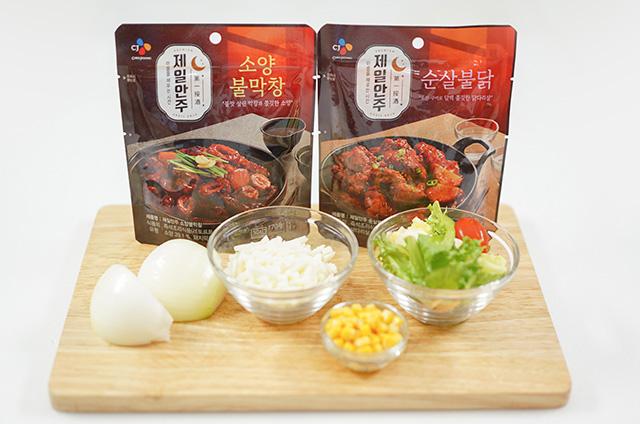 콘치즈 소양불막창&순살 불닭 만들기 2단계 사진