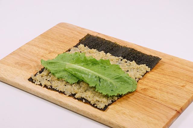 닭가슴살 샐러드 현미 김밥 만들기 3단계 사진