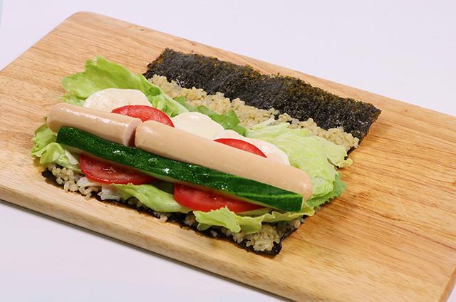 닭가슴살 샐러드 현미 김밥 만들기 4단계 사진