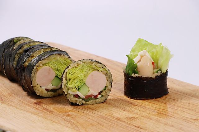 닭가슴살 샐러드 현미 김밥 만들기 5단계 사진